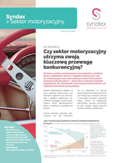 Syndex Sektor motoryzacyjny n°11 - CZY SEKTOR MOTORYZACYJNY UTRZYMA SWOJĄ KLUCZOWĄ PRZEWAGĘ KONKURENCYJNĄ?